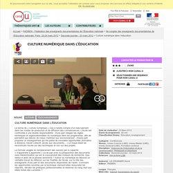 Culture numérique dans l'éducation - FADBEN - Fédération des enseignants documentalistes de l'Éducation nationale