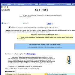 enseignants, eleves, parents, comment faire face au stress?