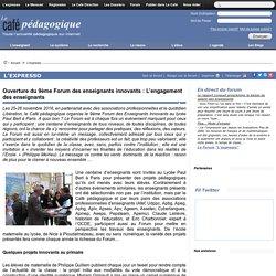Ouverture du 9ème Forum des enseignants innovants : L'engagement des enseignants