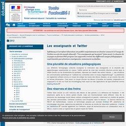 Les enseignants et Twitter — Enseigner avec le numérique