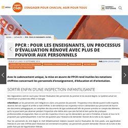 PPCR : Pour les enseignants, un processus d'évaluationrénovéavec plus de pouvoir aux personnels - Fédération Sgen-CFDT
