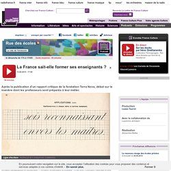 La France sait-elle former ses enseignants