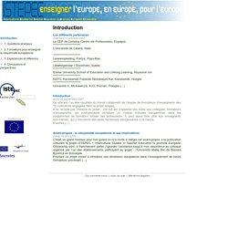 Former des enseignants européens - Introduction