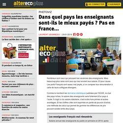 Dans quel pays les enseignants sont-ils le mieux payés ? Pas en France...