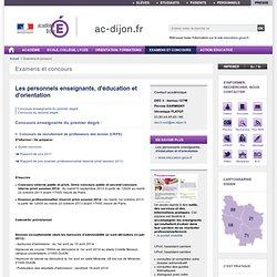 RUB. SITE Ac. Dijon : Personnels enseignants, d'éducation et d'orientation