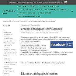 Groupes d'enseignants sur Facebook