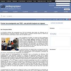 Former les enseignants aux TICE : une priorité toujours en vigueur