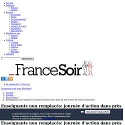 Enseignants non remplacés: journée d'action dans près de 200 écoles de Seine-Saint-Denis