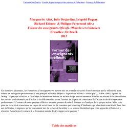 Altet, Desjardins, Etienne, Paquay & Perrenoud - Former des enseignants réflexifs. Obstacles et résistances