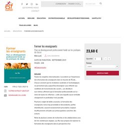 Former les enseignants - Luc Ria - livre - ESF sciences humaines
