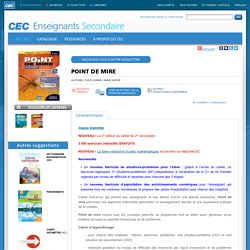 CEC/Enseignants/Secondaire/POINT DE MIRE