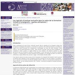 Les logiciels d'analyse textuelle dans le cadre de la formation initiale d'enseignants : quelles utilisations ?