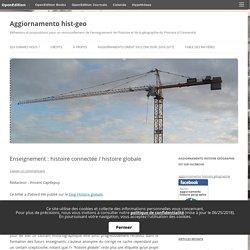 """""""Enseignement : histoire connectée / histoire globale """"- Aggiornamento hist-geo"""