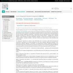 Enseignement 2009-2010 — Une approche historique de l'alterscience (II)