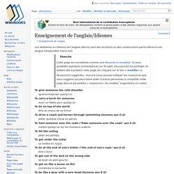 Enseignement de l'anglais/Idiomes