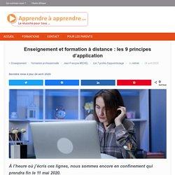 Enseignement et formation à distance : les 9 principes d'application