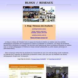 4 blogs, enseignement, applications, éducation, FLE, carnets web, weblogs