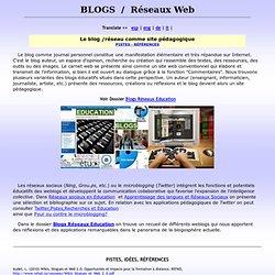 1 blogs, enseignement, applications , éducation, FLE, carnets web, weblogs