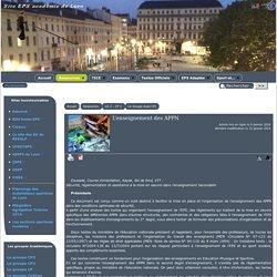 L'enseignement des APPN - [EPS Académie de Lyon]