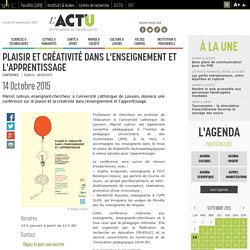 Plaisir et créativité dans l'enseignement et l'apprentissage