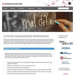 Activités d'enseignement-apprentissage