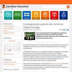 L'enseignement explicite des contenus d'apprentissage