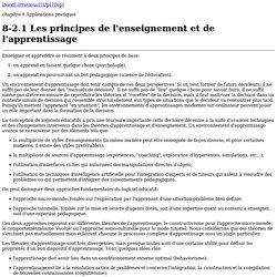 8-2.1 Les principes de l'enseignement et de l'apprentissage