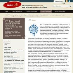 L'EMI, un nouvel enseignement au service de la citoyenneté du 21è siècle ?