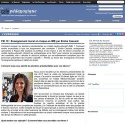 FEI 10 : Enseignement moral et civique en IME par Emilie Cassard