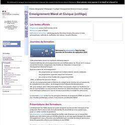 Enseignement Moral et Civique (collège)