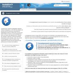 Enseignement moral et civique - toutatice.fr