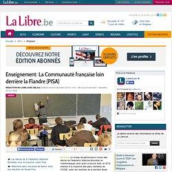 Enseignement: La Communauté française loin derrière la Flandre (PISA)