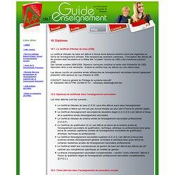 Guide de l'Enseignement (en communaute fran�aise de Belgique)