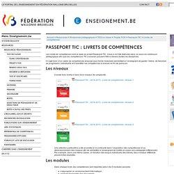 Passeport TIC : Livrets de compétences