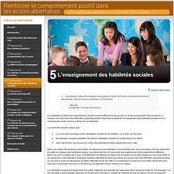 5e élément clé : L'enseignement des habiletés sociales