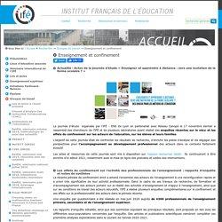 Enseignement et confinement — Site de l'Institut Français de l'Education