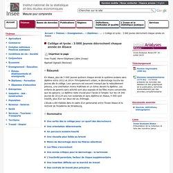 Enseignement-Éducation - Collège et lycée: 3000 jeunes décrochent chaque année en Alsace