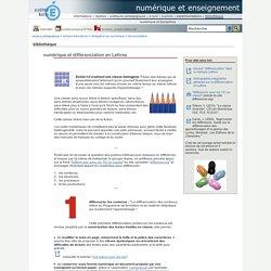 numérique et enseignement - numérique et différenciation en Lettres