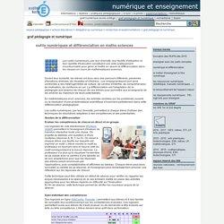 numérique et enseignement - outils numériques et différenciation en maths-sciences