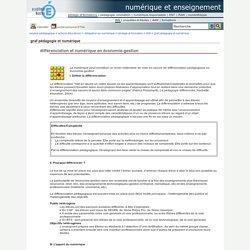 Différenciation et numérique en économie-gestion