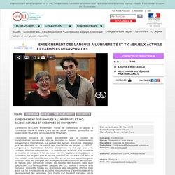 Enseignement des langues à l'université et TIC : enjeux actuels et exemples de dispositifs - Université Paris 1 Panthéon-Sorbonne