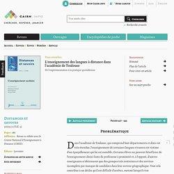 L'enseignement des langues à distance dans l'académie de Toulouse