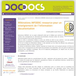 Wikinotions INFODOC ressource pour un enseignement de l'information-documentation