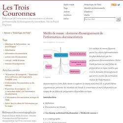 Média de masse: domaine d'enseignement de l'information-documentation