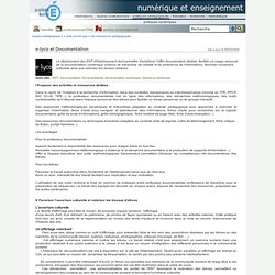 Espace Pédagogique - ENT - Documentation