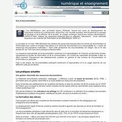 numérique et enseignement - tice et documentation