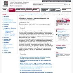 Enseignement-Éducation - Éducation nationale: des métiers exposés aux menaces et aux insultes