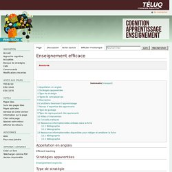 Enseignement efficace — ted6210