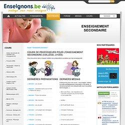 Cours de profs, ressources pédagogiques : tout pour l'enseignant du secondaire (enseignement secondaire)
