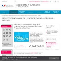 Une Stratégie nationale pour l'Enseignement Supérieur : remise du rapport de la StraNES au Président de la République